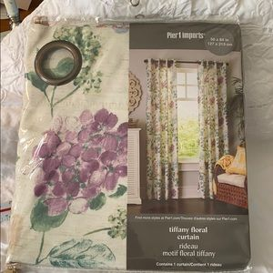 NEW Curtain, Tiffany floral 50 x 84 panel, Pier 1